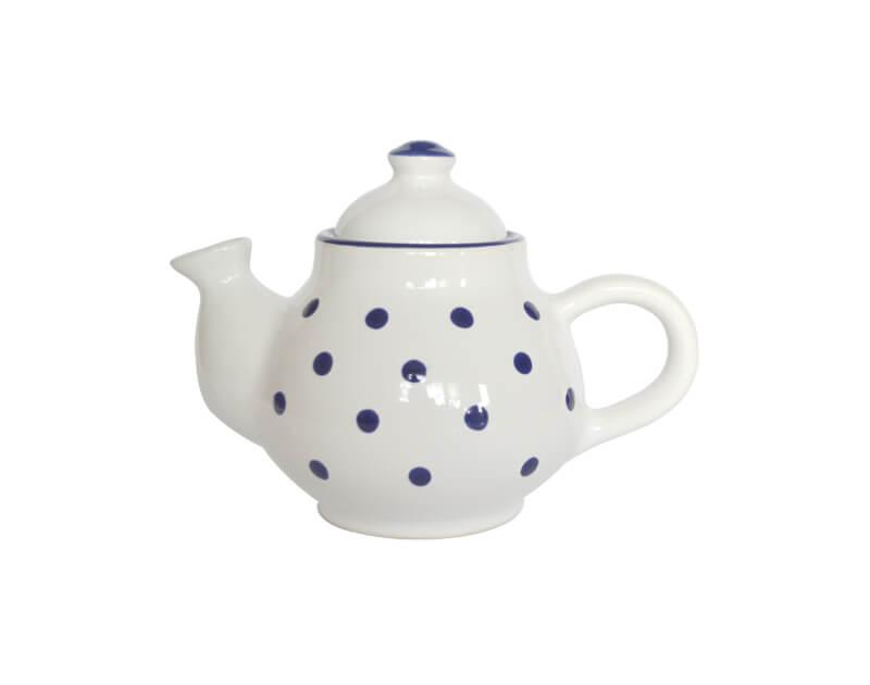 Keramik weiße Kaffeekanne mit Punkten (0,75 L)