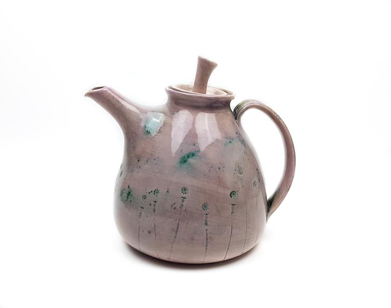 Keramik Lässige Teekanne mit Natur Motiv Lila