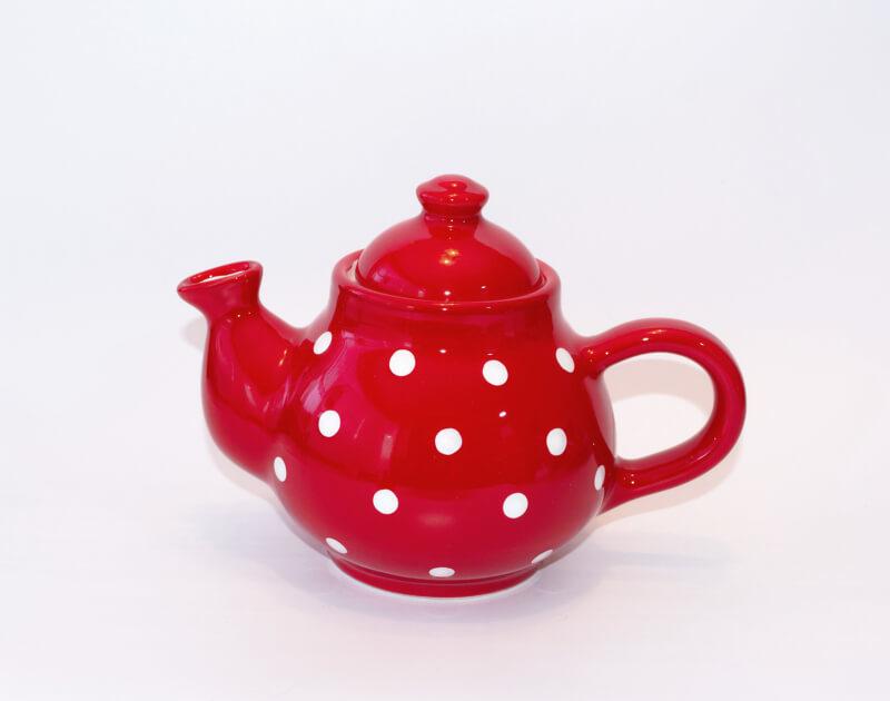 Keramik Kaffeekanne mit weißen Punkten (0,75 L)
