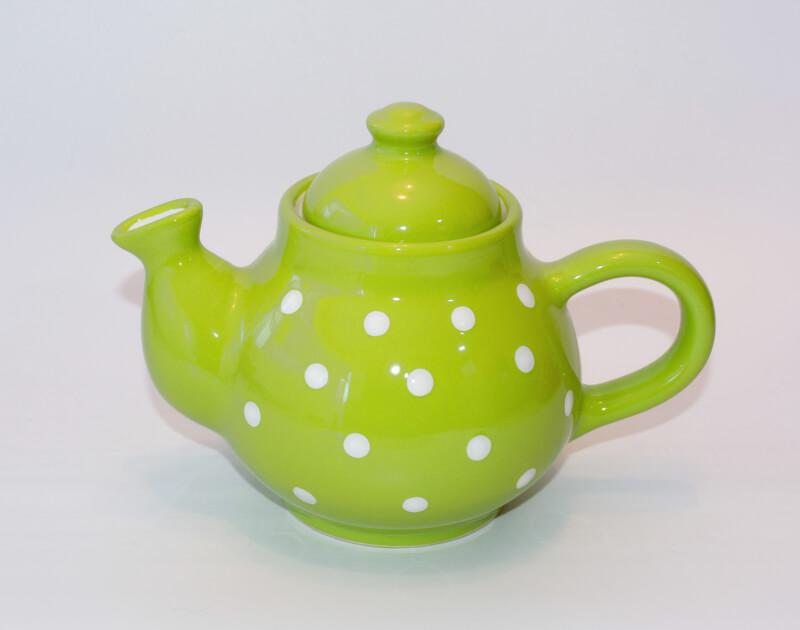 Keramik Kaffeekanne Pastell mit weißen Punkten (0,75 L)