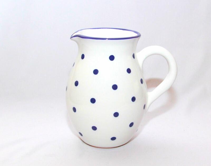 Keramik weißer Traditioneller Krug mit Punkten (Groß)