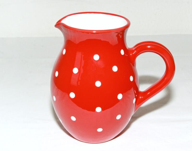 Keramik Traditioneller Krug mit weißen Punkten (Groß)