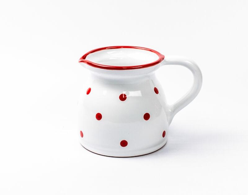 Keramik Milchkrug mit Punkten