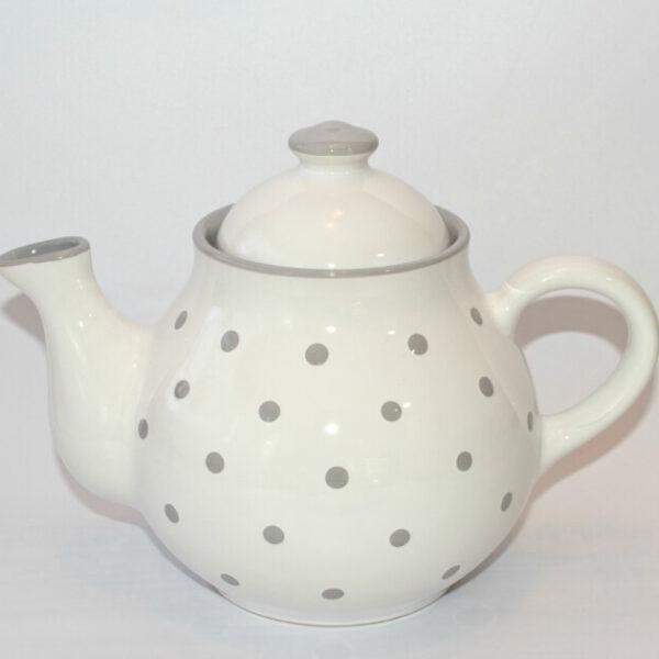 weißen Teekannen mit Pastellpunkten 1,7 L