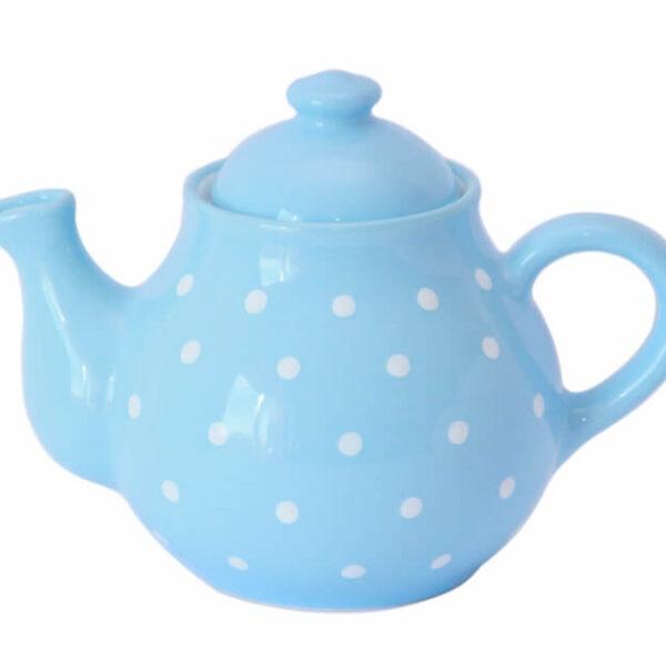 Pastell Teekanne mit weißen Punkten 1,7 L
