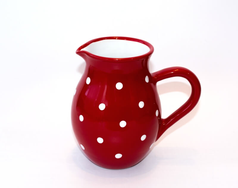 Keramik Traditioneller Krug mit weißen Punkten (Mittel)