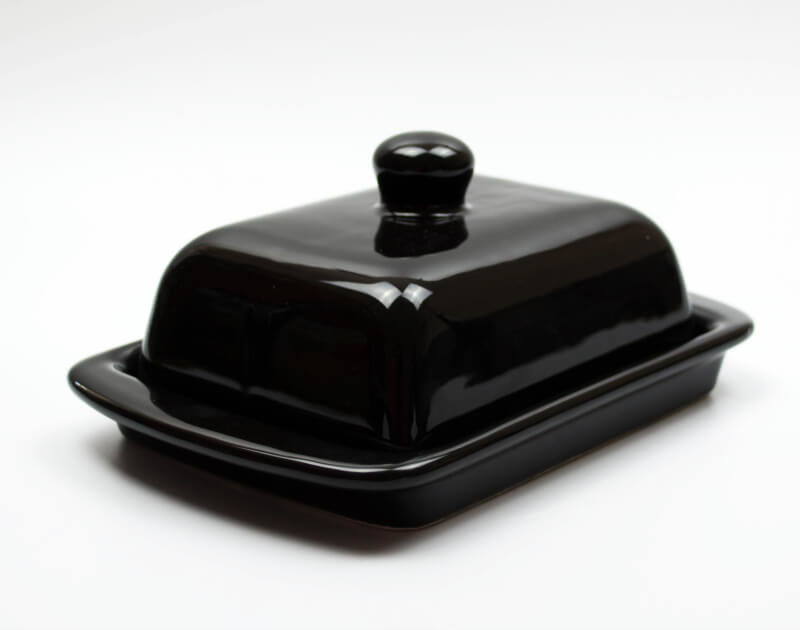 Keramik Butterdose schwarz 250 gr