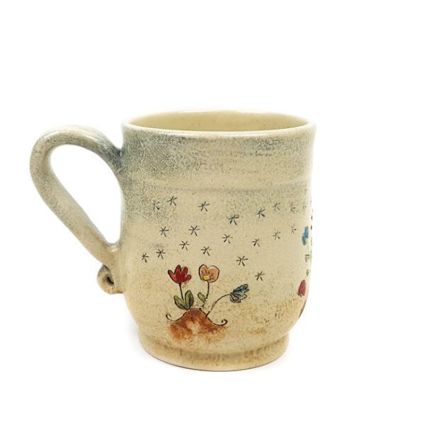 Keramik Becher mit Märchen (Wildschweine) 0,5 L