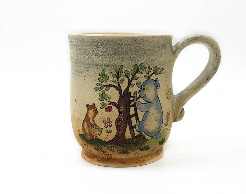 Keramik Becher mit Märchen (Bären) 0,5 L