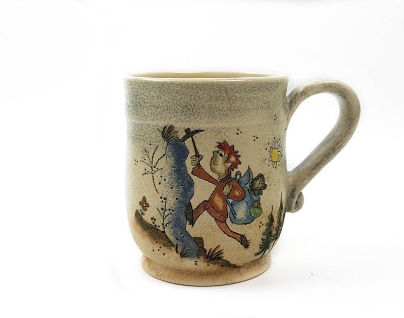 Keramik Becher mit Märchen (Wanderkönig) 0,5 L