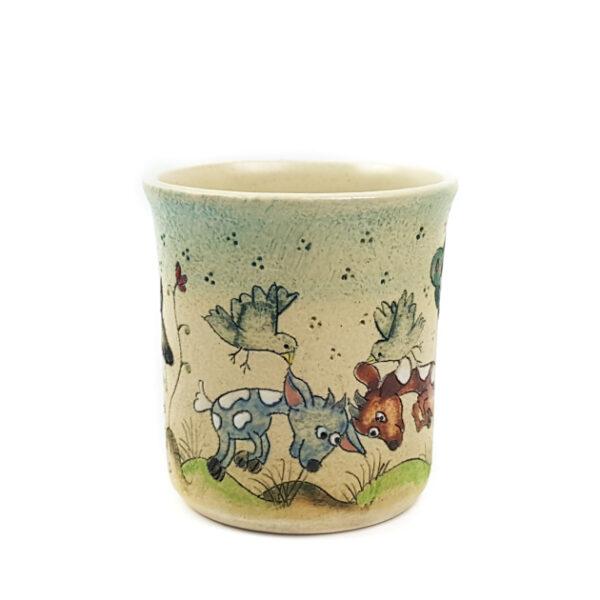 Keramik Becher mit Märchen (Bock Ziege) 0,3 L
