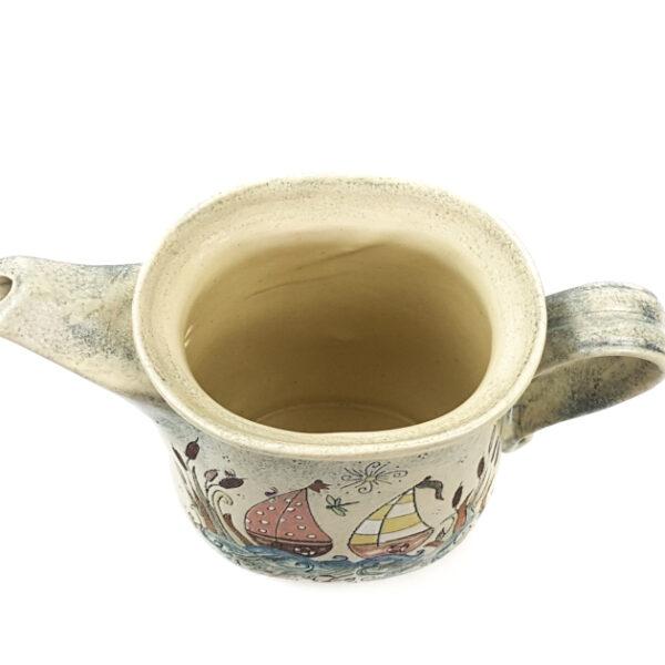 Oval Teekanne mit Märchen (Schiff) Muster
