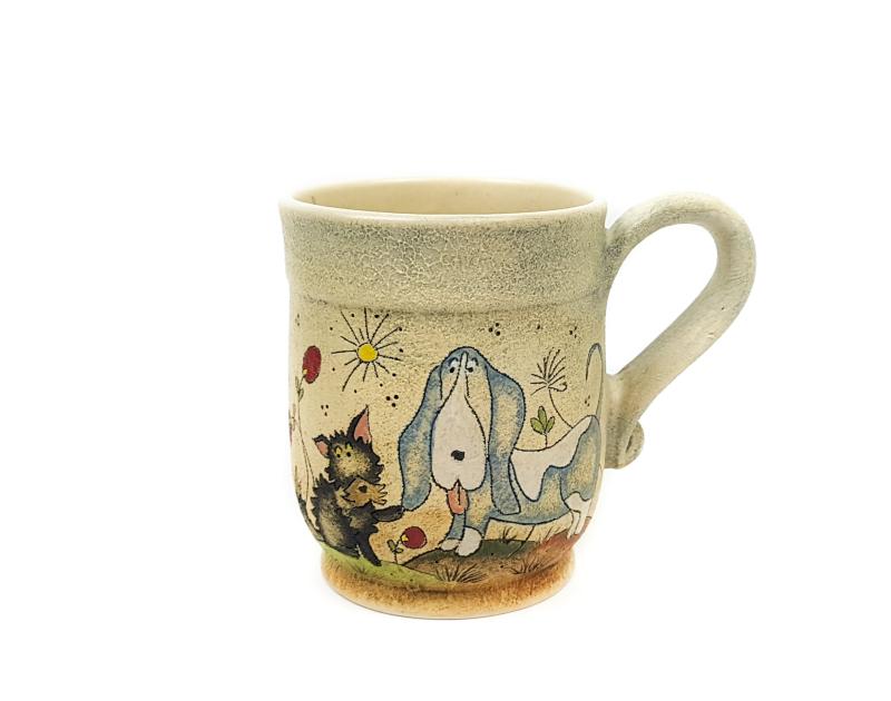 Keramik Becher mit Märchen (Hund) 0,5 L