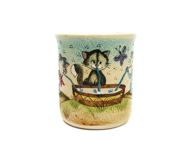 Keramik Becher mit Märchen (Katzen) 0,3 L