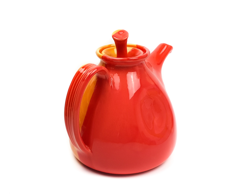 Keramik Lässige Teekanne Orange Rot